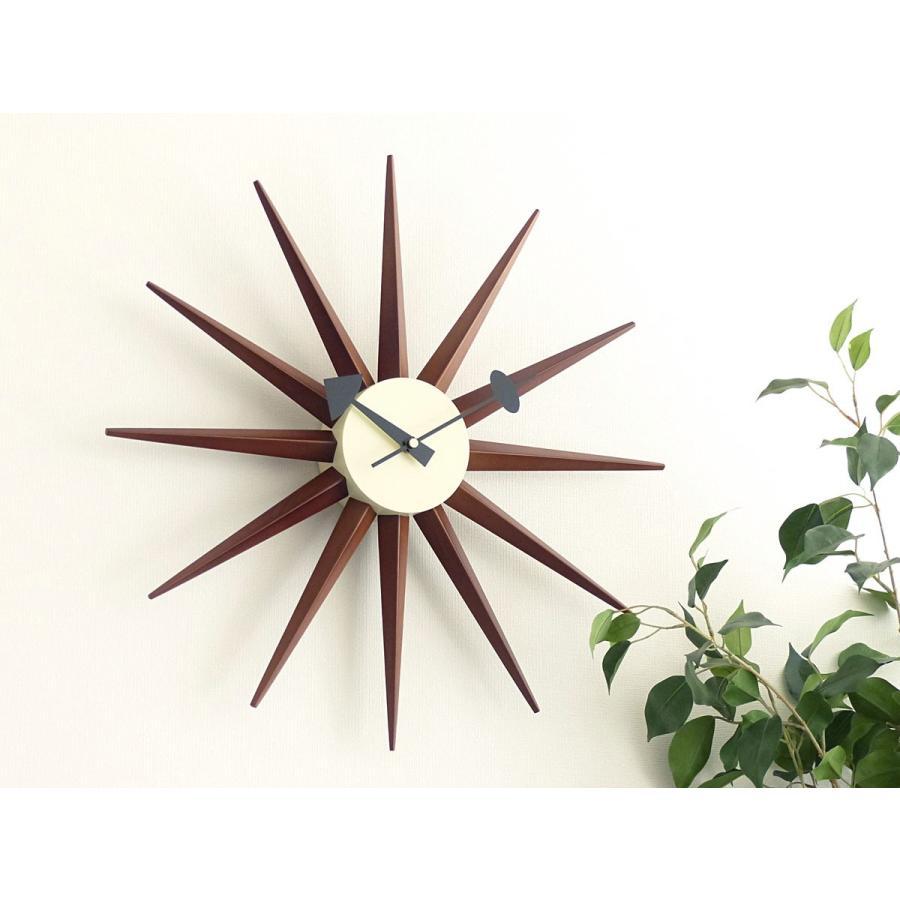 サンバーストクロック ブラウン ジョージ・ネルソン 掛時計|rmjapan|07
