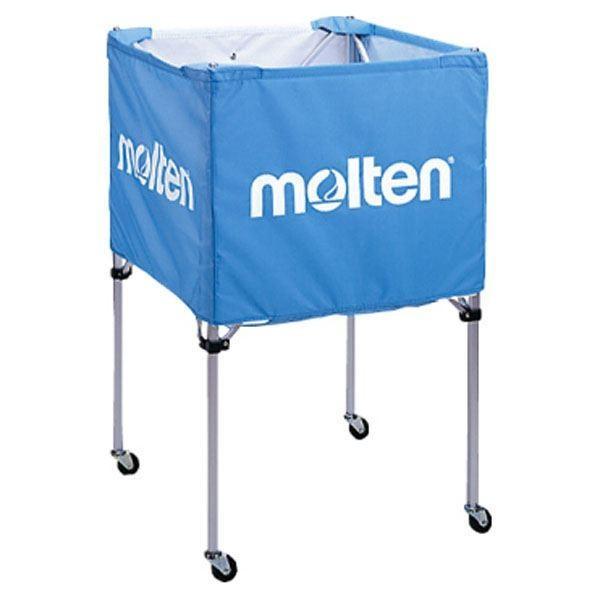 【5%還元】〔モルテン Molten〕 折りたたみ式 ボールカゴ 〔中・背高 屋内用 サックス〕 幅63×奥行63cm キャスター ケース付き
