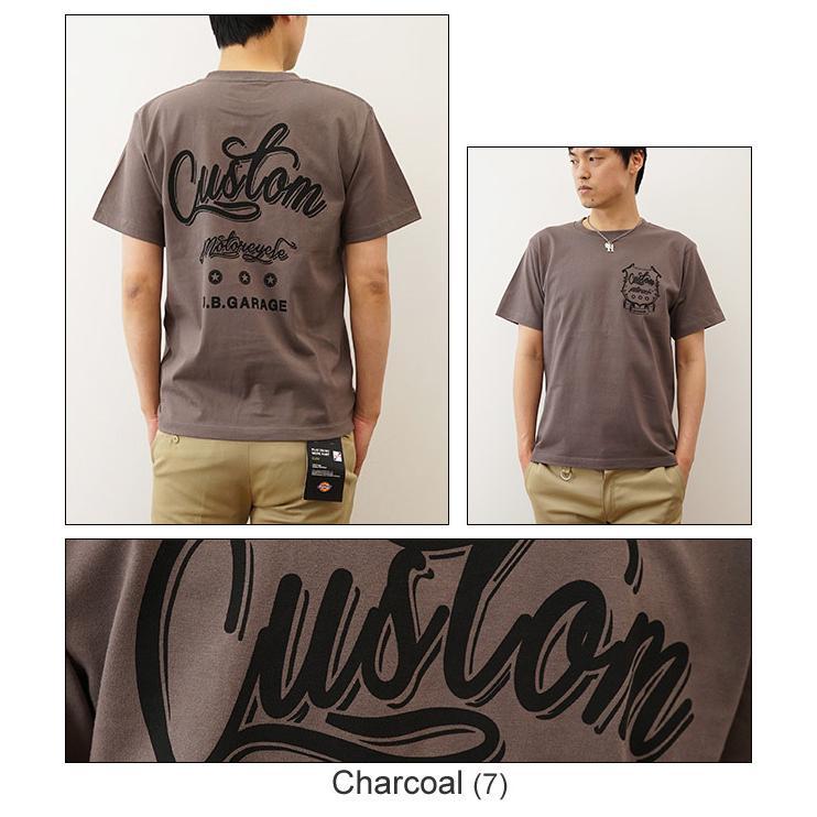 半袖 Tシャツ メンズ CUSTOM オリジナル バイカー プリント カスタム バイク ガレージ レディース 大きいサイズ 親子 おそろい ペアルック ST-CUSTOM|robinjeansbug|06