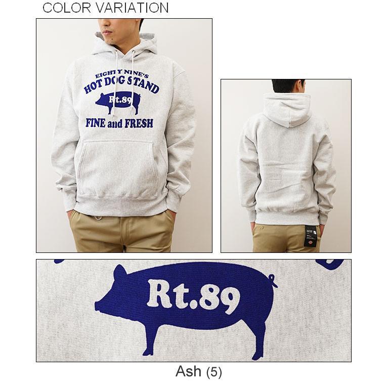 (FTプルパーカ)89's HOT DOG オリジナル豚モチーフプリント  パーカー フレンチテリー スウェット スエット アメリカ看板 メンズ 大きいサイズ FTPP-HOTDO|robinjeansbug|05