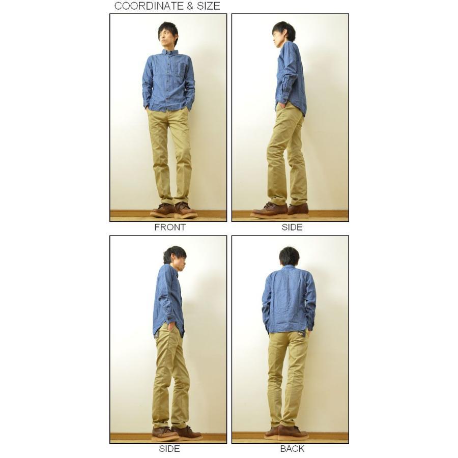 GLOVE HOUSE(グローブハウス) インディゴ ドット柄 ボタンダウンシャツ メンズ 長袖 BD デニム 15-1003|robinjeansbug|02