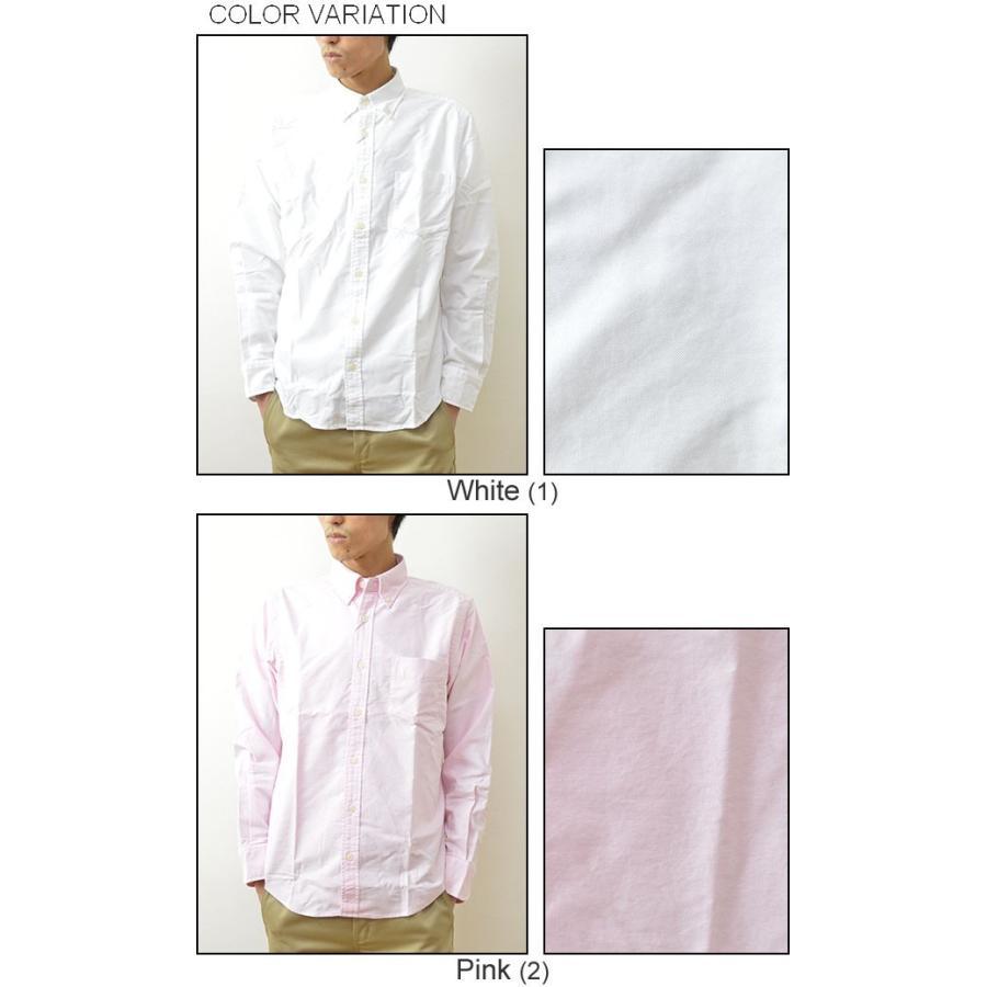 University of Oxford(オックスフォード) ナチュラルストレッチ BDシャツ メンズ シャツ 長袖 無地 ボタンダウン 厚手 大きいサイズ 0701-30000|robinjeansbug|04