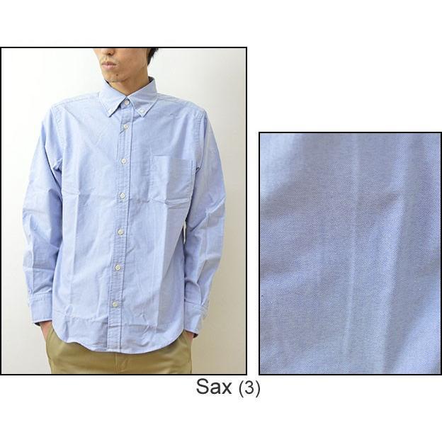 University of Oxford(オックスフォード) ナチュラルストレッチ BDシャツ メンズ シャツ 長袖 無地 ボタンダウン 厚手 大きいサイズ 0701-30000|robinjeansbug|05