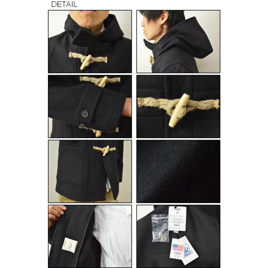 FIDELITY(フィデリティ) アメリカ製 ミドル ダッフルコート メンズ アウター メルトン ウール ジャケット USA トグル 24オンス フィデリティー 24019-R-3-14 robinjeansbug 03