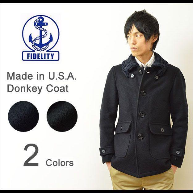 FIDELITY(フィデリティ) アメリカ製 ドンキーコート メンズ アウター メルトン ウール ジャケット USA 24オンス肉厚 フィデリティー F1465M robinjeansbug