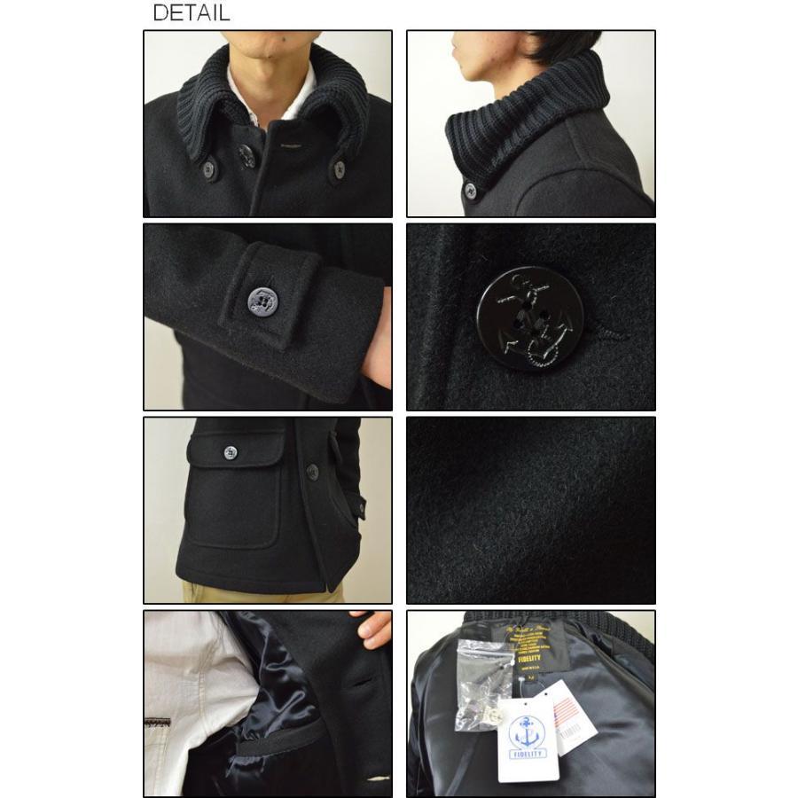 FIDELITY(フィデリティ) アメリカ製 ドンキーコート メンズ アウター メルトン ウール ジャケット USA 24オンス肉厚 フィデリティー F1465M robinjeansbug 03