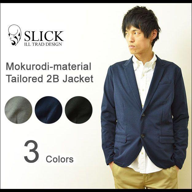 Slick(スリック) モクロディー テーラードジャケット メンズ 2つボタン ドレス 伸縮 ノッチドラペル 5168547|robinjeansbug