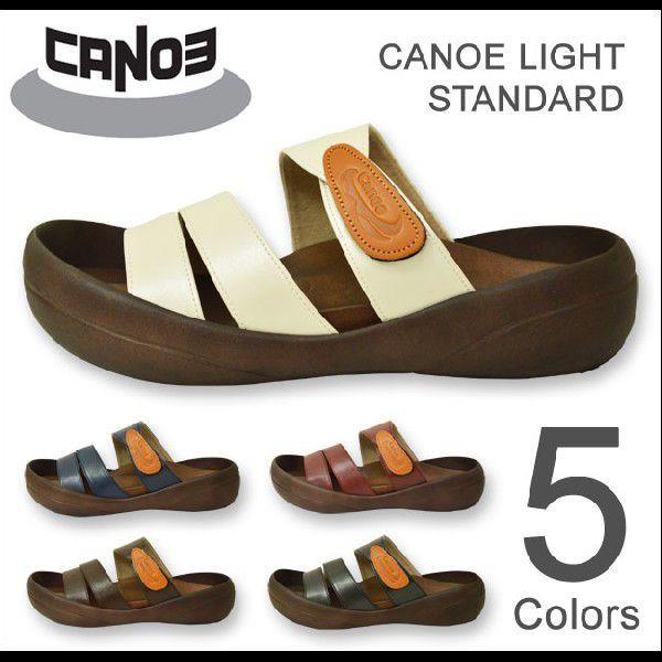 CANOE Light(カヌーライト) STANDARD スタンダードサンダル 3本ベルト PU 合成皮革 コンフォートシューズ メンズ 日本製 国産 CL501 CL-501|robinjeansbug