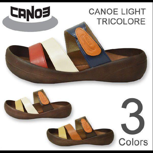 CANOE Light(カヌーライト) TRICOLORE トリコロールサンダル 3本ベルト PU 合成皮革 コンフォートシューズ メンズ 日本製 国産 CL500TR CL-500TR robinjeansbug