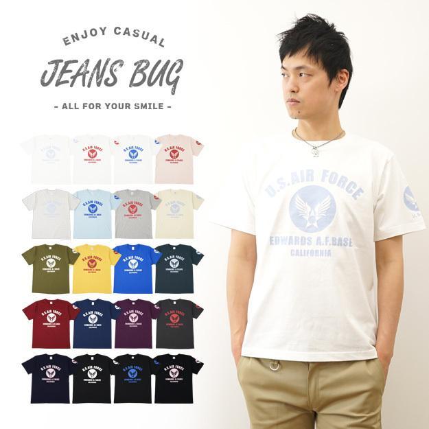 半袖 Tシャツ メンズ U.S. AIR FORCE CA オリジナル エアフォース ミリタリー プリント アメカジ 空軍 米軍 アーミー 大きいサイズ キングサイズ 対応 ST-CA|robinjeansbug