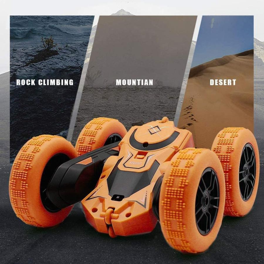 ラジコンカー 子供 オフロード 人気 速い ラジコン 360度回転 両面走行 四輪駆動 ドリフト アクション 室内 室外 ミニ 小さい 小型 車 おもちゃ 玩具|robotplaza|03