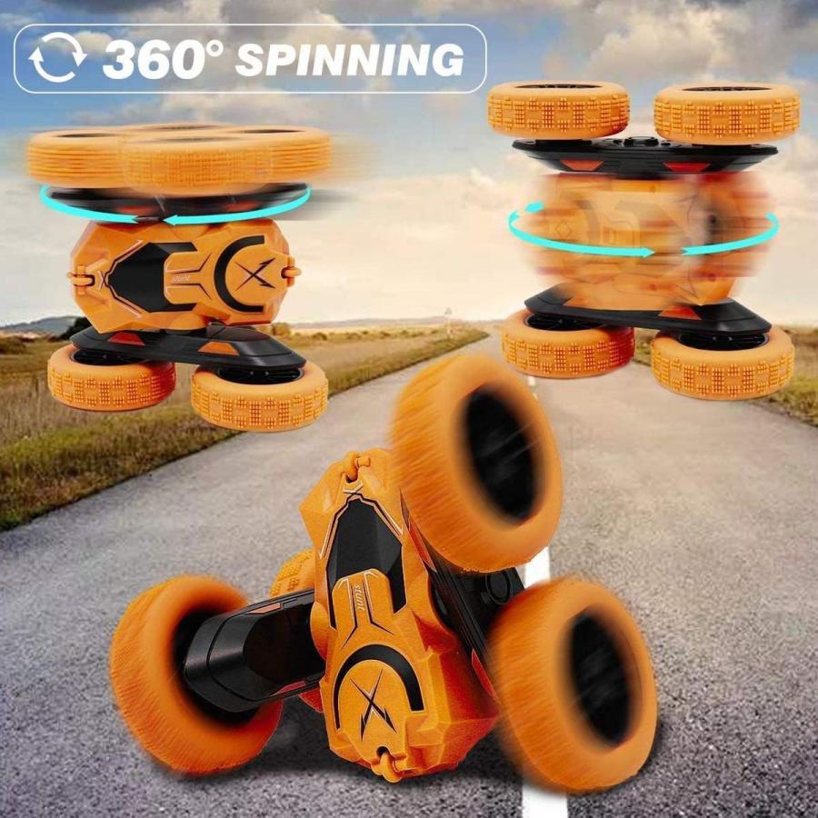 ラジコンカー 子供 オフロード 人気 速い ラジコン 360度回転 両面走行 四輪駆動 ドリフト アクション 室内 室外 ミニ 小さい 小型 車 おもちゃ 玩具|robotplaza|05