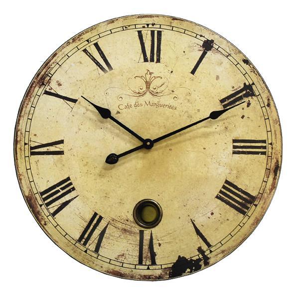 カフェ ラージクロック BT-30 アンティーク調 壁掛け時計 掛時計