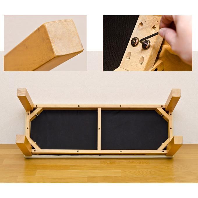安定感のあるコンパクトサイズのダイニングベンチ 幅96cm 奥行35cm Harp|rochelobe-furniture|05