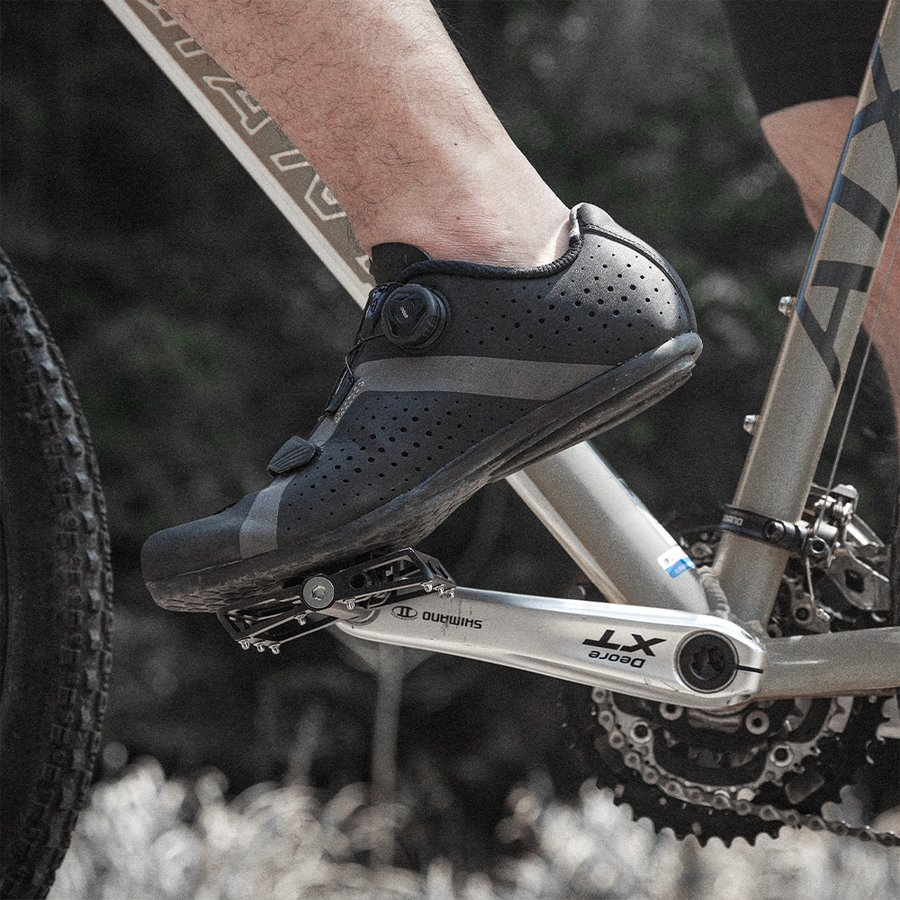 ビンディングペダル フラットペダル 表裏一体型 自転車 ロードバイク 9/16インチ rockbros 17