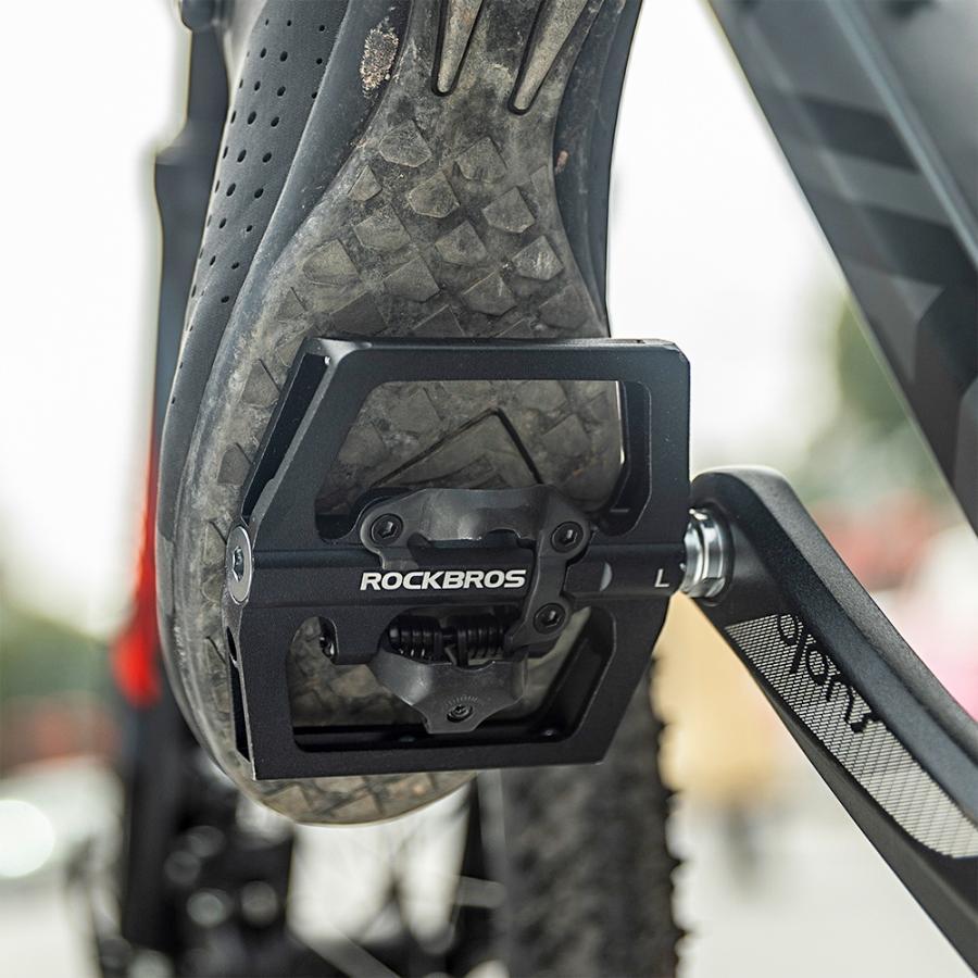 ビンディングペダル フラットペダル 表裏一体型 自転車 ロードバイク 9/16インチ rockbros 19