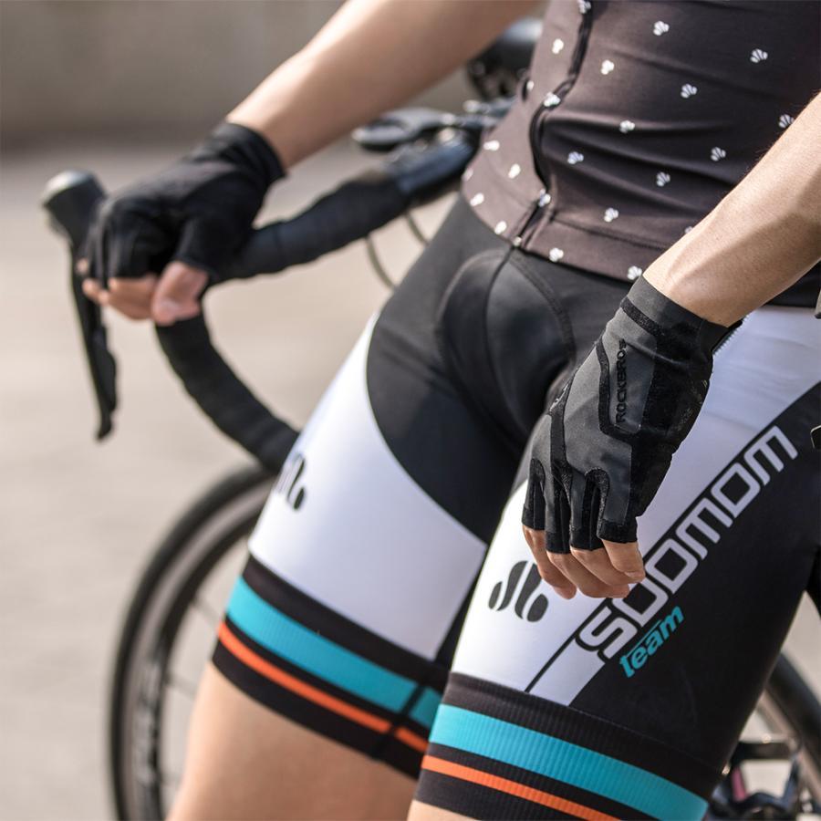 グローブ 自転車 サイクルグローブ 指切り ハーフフィンガー 春夏 耐衝撃性 rockbros 12