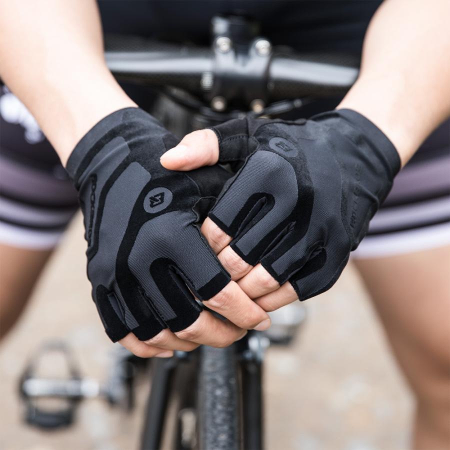 グローブ 自転車 サイクルグローブ 指切り ハーフフィンガー 春夏 耐衝撃性 rockbros 08