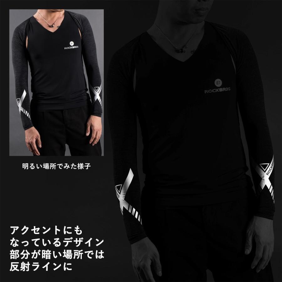 アームカバー 着るアームカバー ずれない メンズ レディース 冷感 夏用 肩まで ボレロ 紫外線対策 スポーツ|rockbros|11
