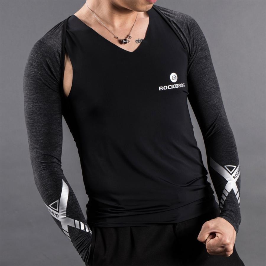 アームカバー 着るアームカバー ずれない メンズ レディース 冷感 夏用 肩まで ボレロ 紫外線対策 スポーツ|rockbros|15