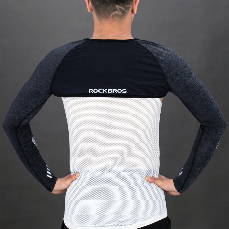 アームカバー 着るアームカバー ずれない メンズ レディース 冷感 夏用 肩まで ボレロ 紫外線対策 スポーツ|rockbros|18