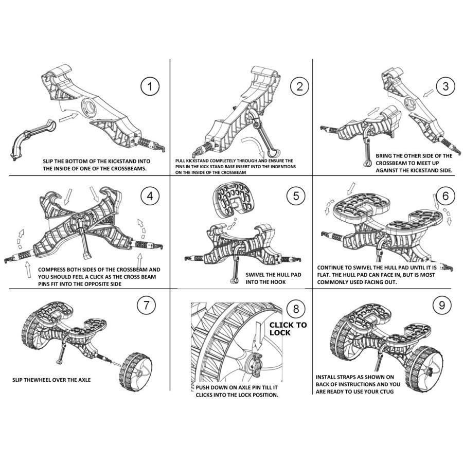 C-TUG サンドトラック (砂地仕様) カヤック&カヌー カート ベルト付き by Rail Blaza (レイルブレイザ) ドーリー キャリー|rockfish-link|13