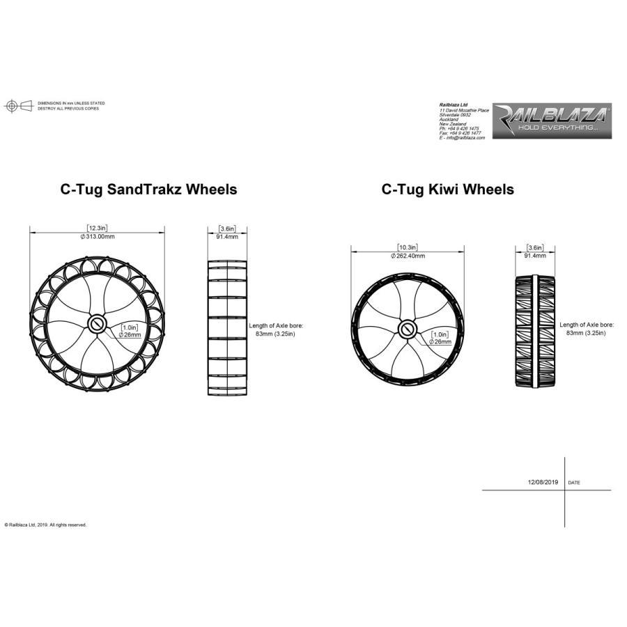 C-TUG サンドトラック (砂地仕様) カヤック&カヌー カート ベルト付き by Rail Blaza (レイルブレイザ) ドーリー キャリー|rockfish-link|15