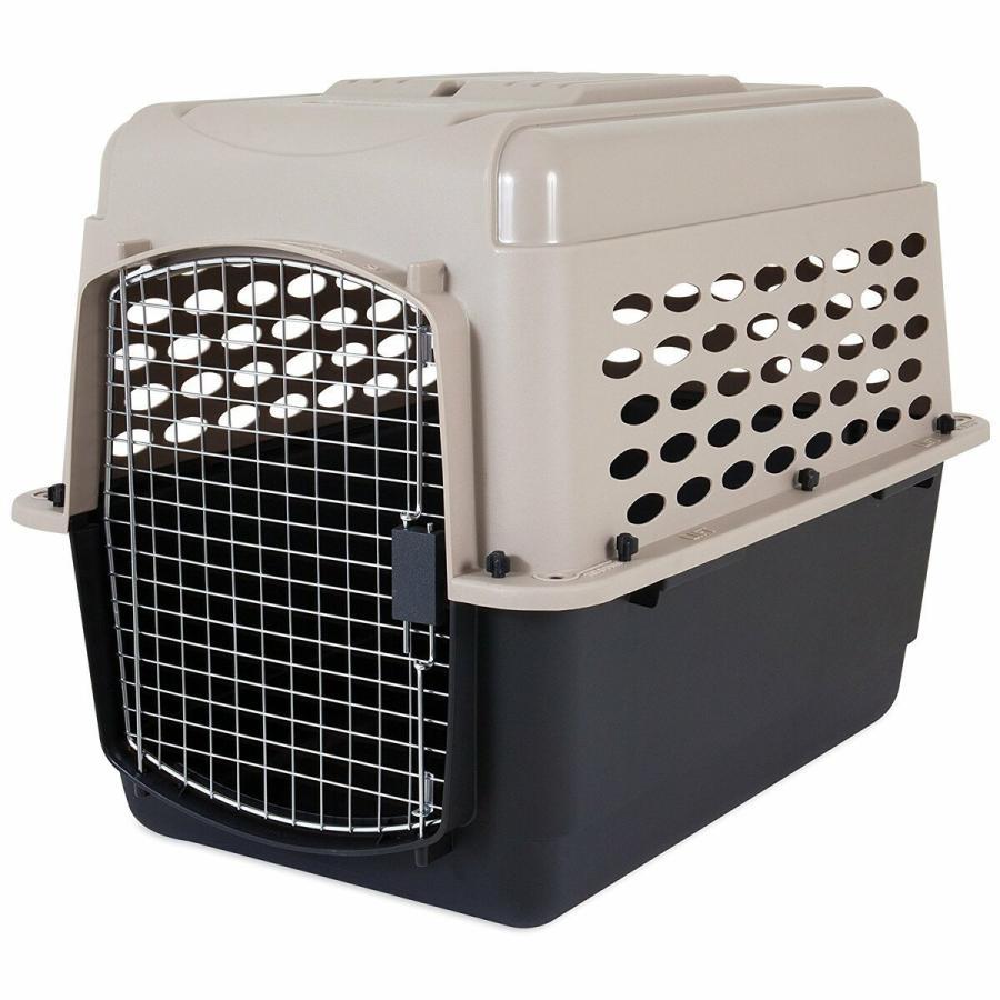 ペットメイト バリケンネル 30から50lbs 13.5から22.7kg 犬用 トープ ブラック|rocky