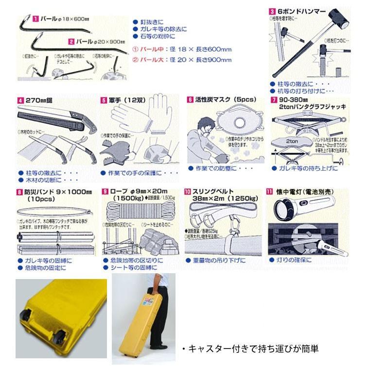 救援工具セット レスキュー11 BTE-RE11 救援キット 救助 防災グッズ ...