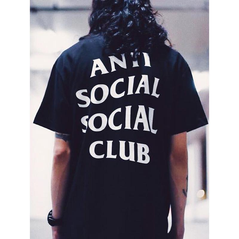 Anti Social Social Club Tシャツ メンズ レディース ユニセックス 半袖 黒 ブラック アンチソーシャルソーシャルクラブ Logo Tee 2 TWO TEE LOGO-T-2-B|rodeobros