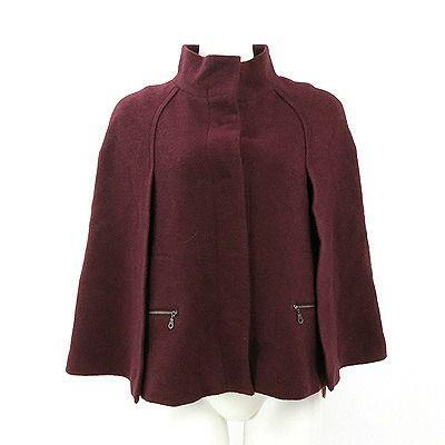 【ファッション通販】 ティビ(tibi)ワイン色スタンドカラーウールジャケット2, 家具のショウエイ b9cd0e02