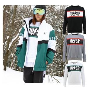 VESP ベスプ トレーナー スウェット メンズ レディース 男女兼用 スノボウェア スノーボードウェア スキーウェア WATER PROTECT COLOR BLOCK CREW