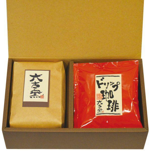 プチギフトBOX/六古窯ブレンドコーヒー豆200gとドリップバッグコーヒー5袋の詰め合わせ rokkoyo