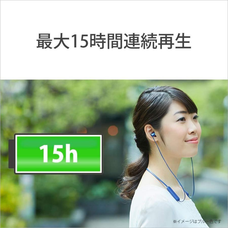 ソニー SONY ワイヤレスイヤホン WI-C310 : Bluetooth対応/最大15時間連続再生/マイク付き フラットケーブル採用 2019年モデル ホワイト WI-C310 WC|rokufi|03