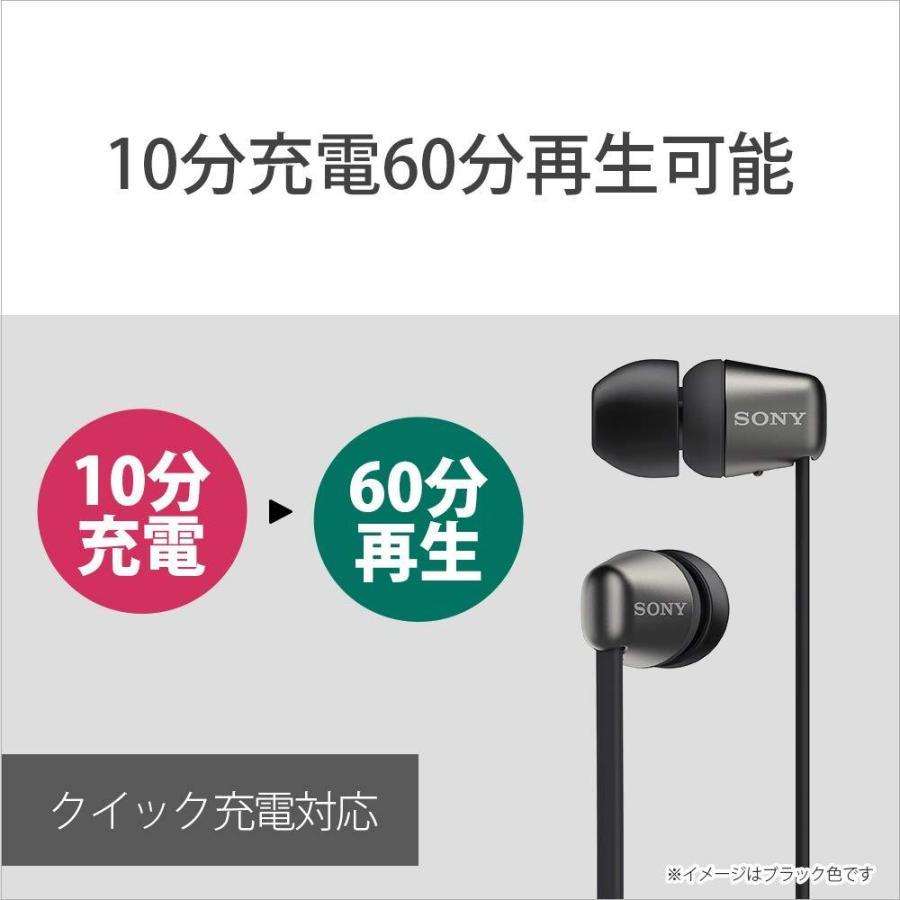 ソニー SONY ワイヤレスイヤホン WI-C310 : Bluetooth対応/最大15時間連続再生/マイク付き フラットケーブル採用 2019年モデル ホワイト WI-C310 WC|rokufi|04
