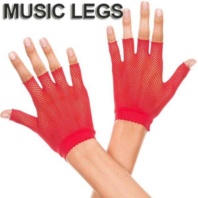 Wrist Length Fishnet Gloves Music Legs 401