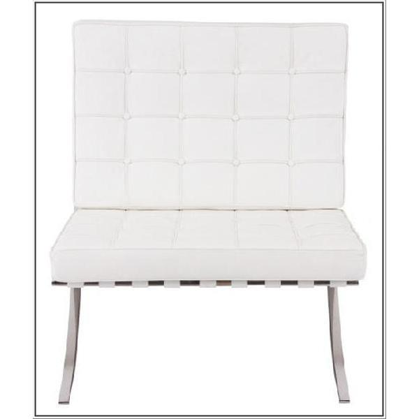 イタリア本革 デザイナーズソファ デザイナーズソファ バルセロナチェア Barcelona chair シリーズ 1人掛け 1P ホワイト