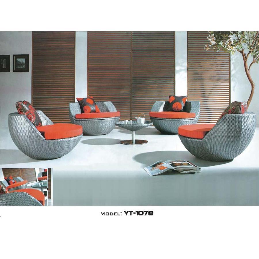 リゾート・ガーデン・エクステリア家具・ソファ5点セット(屋外用)YT-1078E