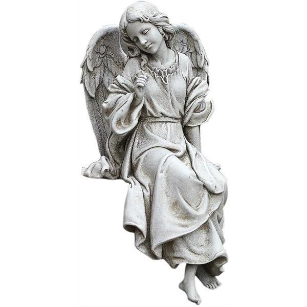 座って見下ろしている天使の彫刻 彫像 オブジェ高さ 約30cm 輸入品
