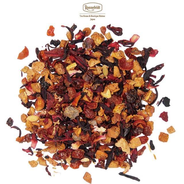 ロンネフェルト紅茶 ロンネフェルト ピーチガーデン(フィールシッシガーデン) 100g フルーツ 桃 ハイビスカス ローズヒップ 甘酸っぱい 赤色 ronnefeldt-matsue 02