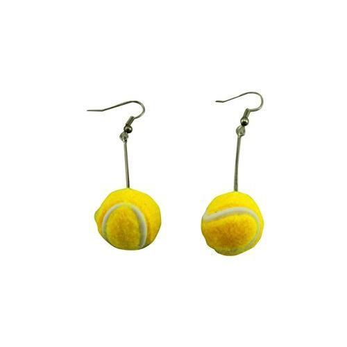 naissant かわいい 揺れる ボール 型 ピアス テニス テニスボール 応援 観戦 グッズ|room-109