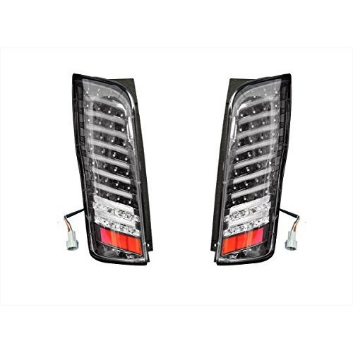 RAMBO テールランプ LED NV350 E26 キャラバン ファイバー ストップランプ バック ブラック 2P