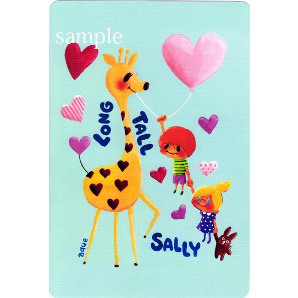 ポストカード「Long Tall SALLY」 キリン ハート サリー 可愛い はがき カード|room505