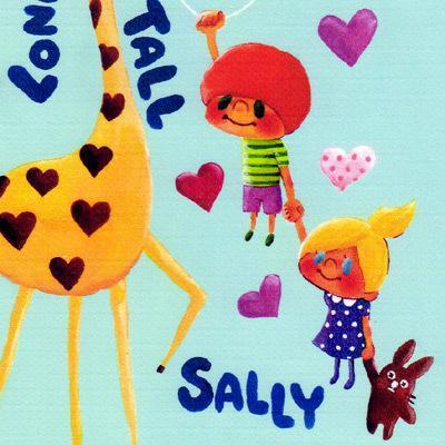ポストカード「Long Tall SALLY」 キリン ハート サリー 可愛い はがき カード|room505|02