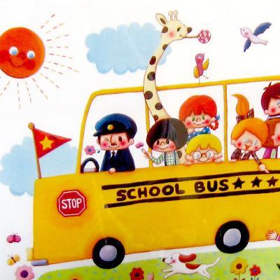 A4ピクチャー「SCHOOL BUS」イラスト A4 アート バス キッズ インテリア 可愛い room505 02