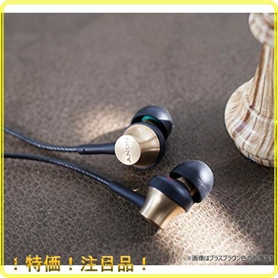 ソニー イヤホン MDR-EX650AP : カナル型 真鍮製ハウジング マイク付 ブラスブラック MDREX650AP BQ|roomy29|04