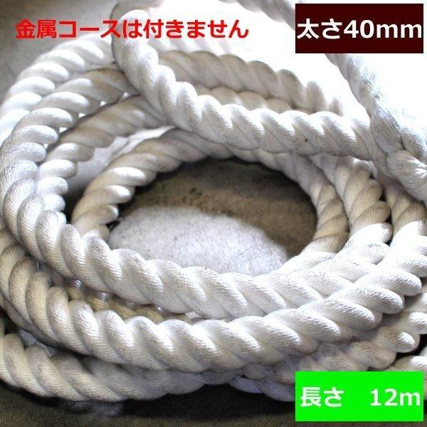 ターザンロープ 登り綱 ビニロン 40mm×12m DIY 家庭用 クライミングロープ トレーニング アスレチック 体力作り 部活 筋力アップ 遊具 簡単取付