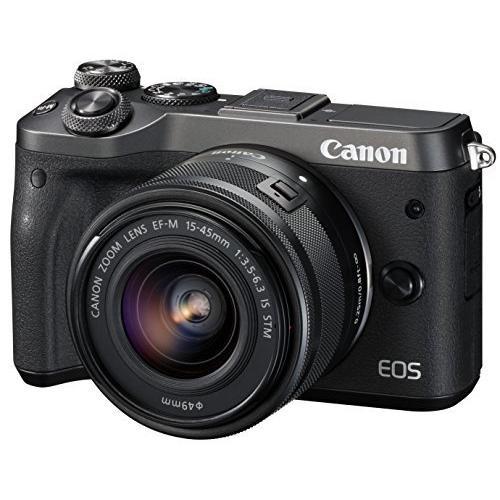 Canon ミラーレス一眼カメラ EOS M6 レンズキット(ブラック) EF-M15-45mm F3.5-6.3 IS STM 付属 EO