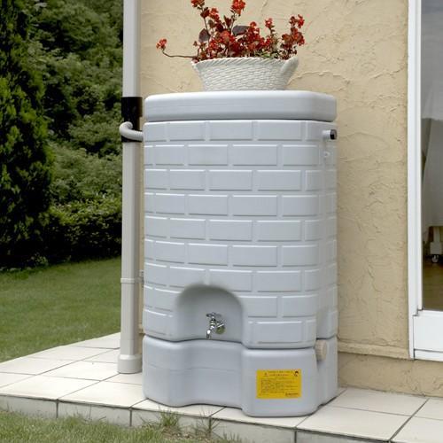タキロン 雨水貯留タンク 雨音くん/タンク容量:200リットル 本体:みかげ色 集水継手:黒色/タンク容量:200L