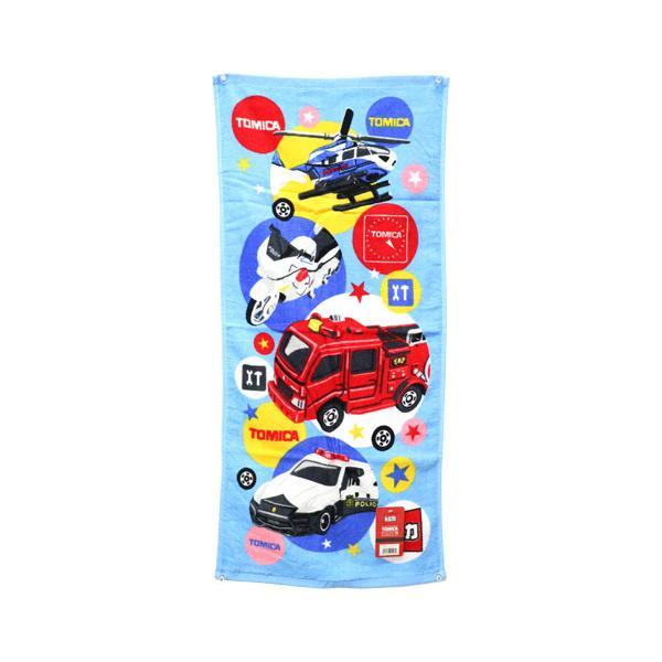 フェイスタオル トミカ スタープレイヤー 働く車 パトカー 大人気 消防車 子供用プール バス用品 タオル FK435000 プラレール 白バイ 全国どこでも送料無料